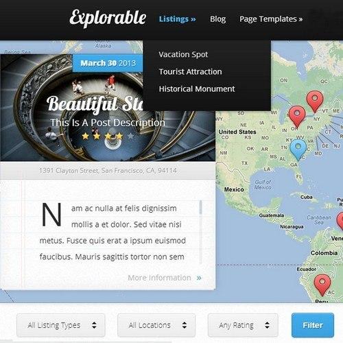 Explorable-WordPRess-Theme