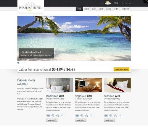 Paradise-Hotel-Responsive-Hotel-plantilla-wordpress