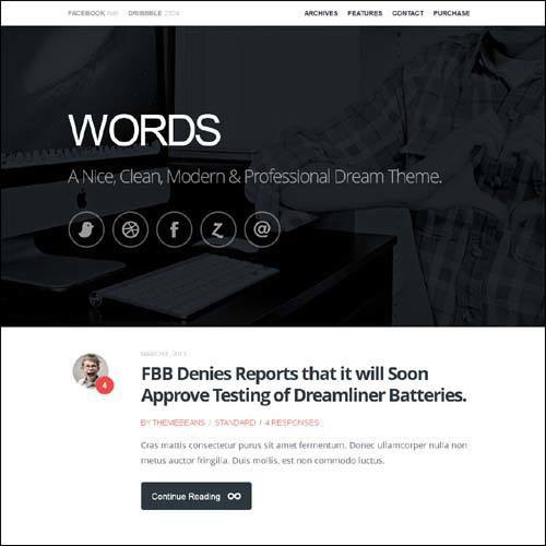 words-responsive-premium-blog-plantilla